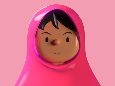 Malala  | Toy Faces | 3D Illustration caricature portrait malala freebie avatar icons symbol library profile list animation c4d faces vr ar 3d illustration ui ux avatars toyfaces