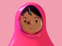 Toy Faces Celebrates Malala caricature portrait malala freebie avatar icons symbol library profile list animation c4d faces vr ar 3d illustration ui ux avatars toyfaces