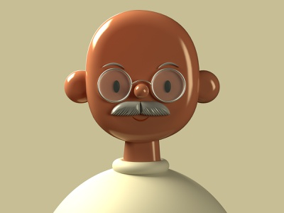 Gandhi  | Toy Faces | 3D Illustration freebies free brand design branding product plugin list freebie toy cute character design gandhi app icon animation illustration ui ux abstract 3d