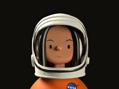 Kalpana Chawla  | Toy Faces | 3D Illustration freebies icons avatar icons illustraion character design mascot character profile avatar portrait icon freebie c4d nasa space astronaut 3d illustration ui ux