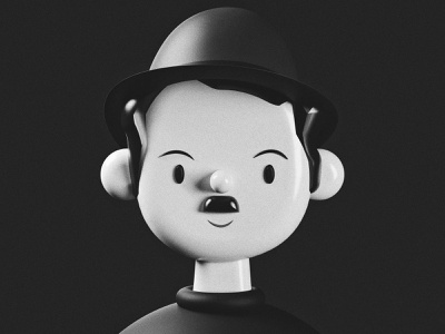 Charlie Chaplin | Toy Faces | 3D Illustration animation logo avatar avatars icon c4d vector freebie 3d illustration ui ux