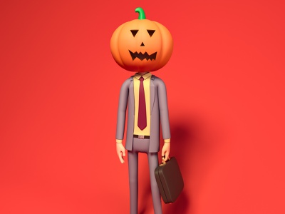 Dwight Pumpkin Halloween 3D Illustration 3d art cinema4d costume spooky wallpaper freebie ui illustration c4d 3d halloween pumpkin dwight dwight schrute the office