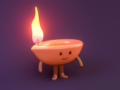 Pinterest Diwali Mascot | 3D Illustration characters character design free freebies vector brand 3d art pinterest diwali mascot freebie ux ui illustration 3d