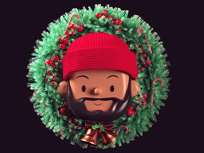 Christmas Lion | Toy Faces | 3D Illustration 3d icon icon logo branding c4d 3d art 3d illustration toy faces freebie character santa christmas cinema4d 3d illustration