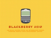 Black Berry 6210