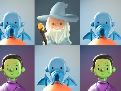 Fantasy Toy Face NFTs   Featured Bitski Drop monster lord of the rings gandalf nfts nftart nft 3d art 3d