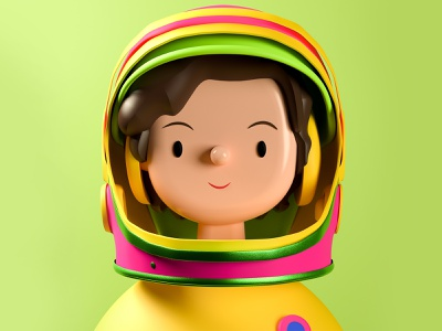 Valentina Tereshkova Toy Face NFT art crypto nfts nft cinema4d russia space astronaut illustration 3d