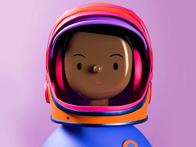 Mae Jemison Toy Face NFT charater design crypto space astronaut c4d 3d nftart nfts nft