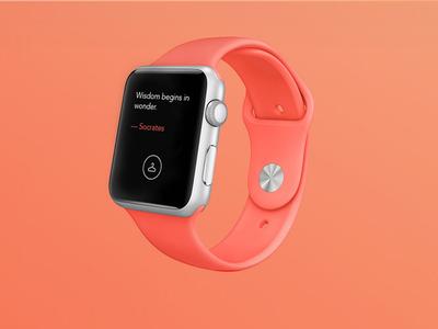 Quote Hanger Apple Watch UI