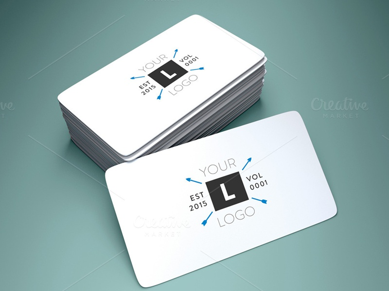 Rounded Corner Business Card Mockup by Amrit Pal Singh