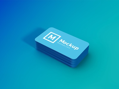 Rounded business card stack mockup by amrit pal singh dribbble rounded business card stack mockup colourmoves
