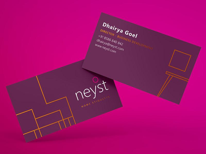 Neyst Branding - Business Cards ux ui typography pink stationery pattern illustration branding vector design logo