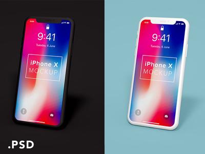 iPhone X Clay Mockup (.psd)