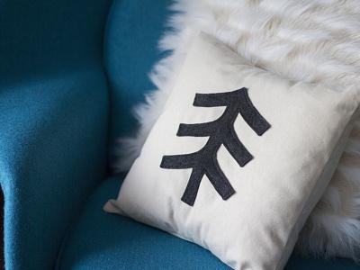 TIMBR® Tree Accent Pillow handmade accessory home fabric cotton sham pillow logo tree