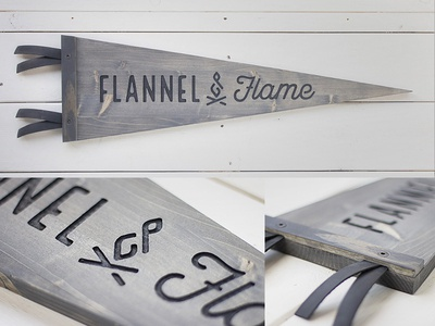 Flannel & Flame // Wood Pennant