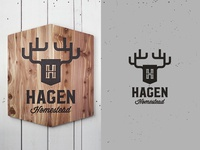 Custom Logo and Wooden Sign