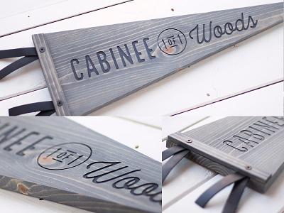 CABINEE (1 of 1) Woods // Wood Pennant custom minnesota north cabin flag banner cnc wood pennant wood pennant