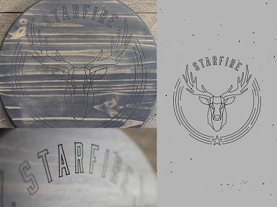 Custom Wood Carving record logo band album star deer buck cnc wood