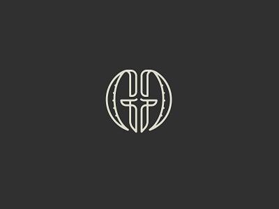 Giant Goat Logo face monoline horns head logo typography ibex goat g
