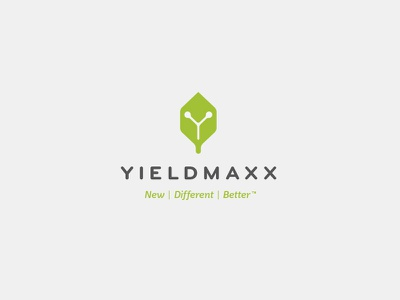 YieldMaxx Logo science logo seed farming yield growth y cube leaf farm agronomy