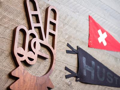 Solid Wood // Sasquatch Peace Sign illustration emoji bigfoot sasquatch icon logo cnc wood sign wall art