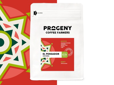 Progeny Coffee - El Pensador packaging coffee