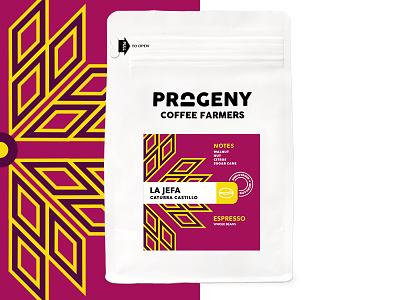 Progeny Coffee - La Jefa packaging coffee