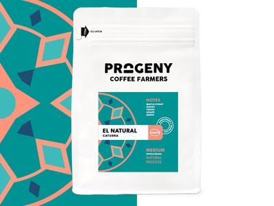 Progeny Coffee - El Natural packaging coffee