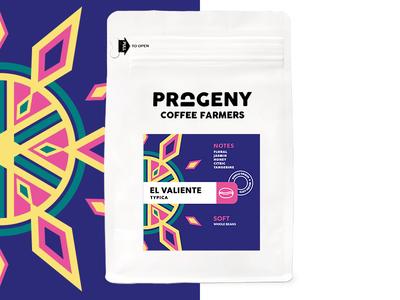 Progeny Coffee - El Valiente packaging coffee