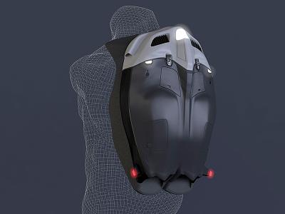 Gravity Suit Concept - WIP modeling 3d cinema4d