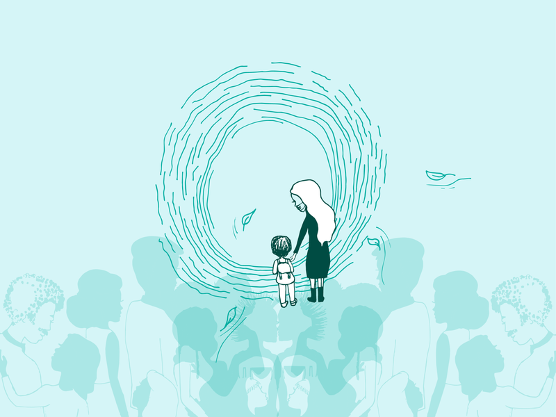 This pandemic is a portal editorial illustration design illustration