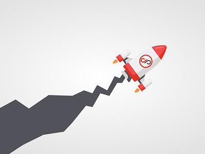 Rocket Background - Deboprojects illustrator wallpaper background rocket logo design