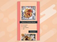 Recipe - #DailyUI #040
