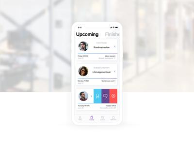 Meetings / Schedule concept app