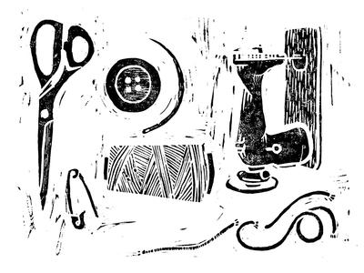 Textil Linocut