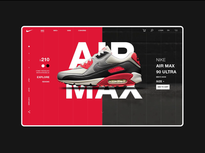 Nike Online Store Main Page Animation