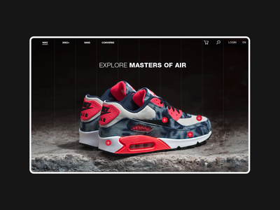 Nike Online Store Explore Page Animation