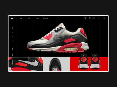 Nike Online Store Gallery Page Animation