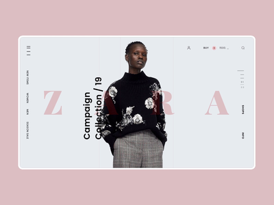 Zara Online Store Main Page Animation