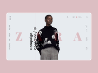 Zara Online Store Main Page Animation e-comerce web webdesign online store animation ux ui promo interface concept