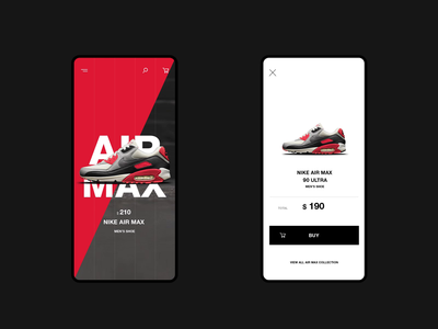 Nike Online Store Mobile Cart Page Animation