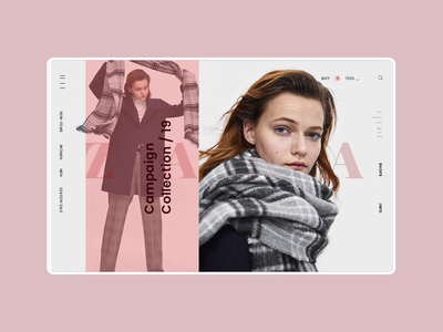 Zara Online Store Product Page Animation