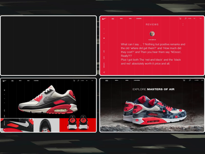 Nike Online Store All Screens Animation