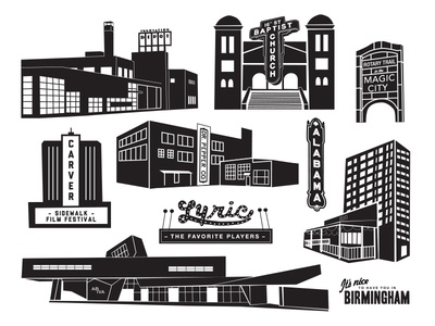 Birmingham Map Illustrations