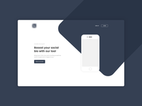 Landing page for personal project