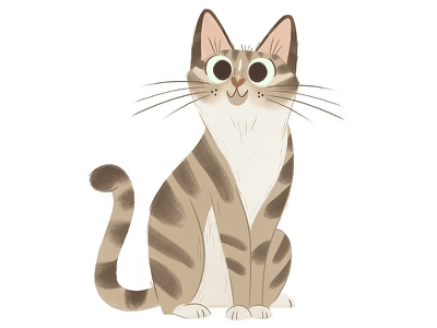 Tabby Cat animal pet kitty painting illustration children illustration cat  character design tabby cat