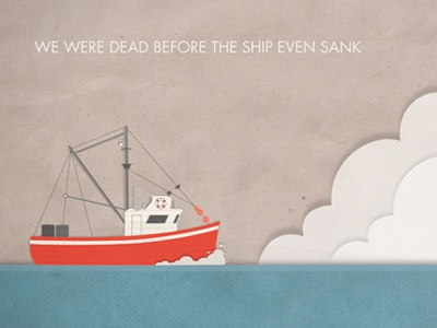 Modest Mouse Album Cover illustration ship texture album ocean fisherman boat clouds waves music