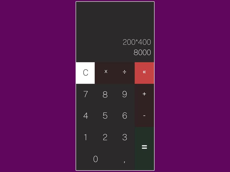 DailyUI::004 numbers calculator dailyui 004 dailyui calculator ui calc