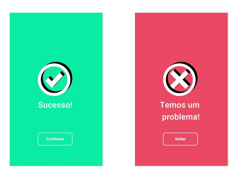 DailyUI::011 (Flash Message) success error flash message design ui dailyui
