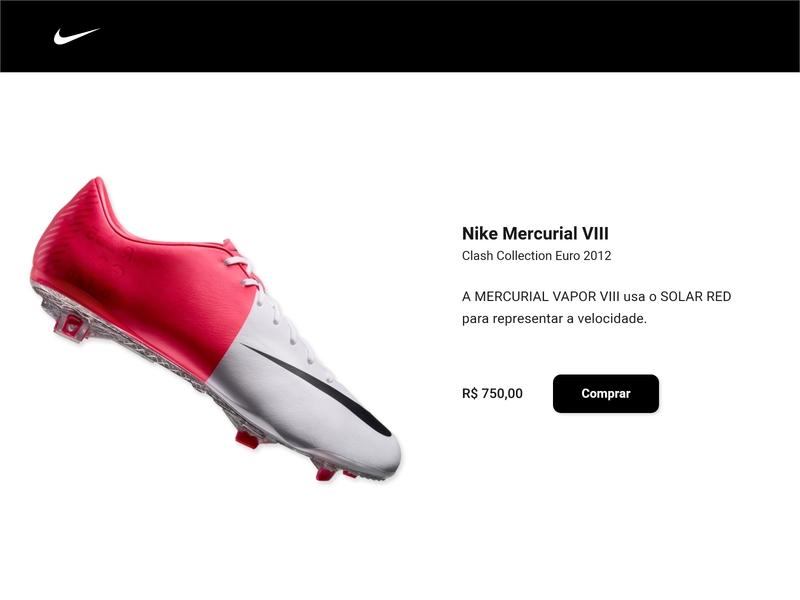 DailyUI::012 (E-Commerce Shop) football boots nike ecommerce design ecommerce ui dailyui